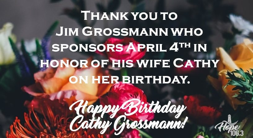 Happy Birthday Cathy Grossmann!