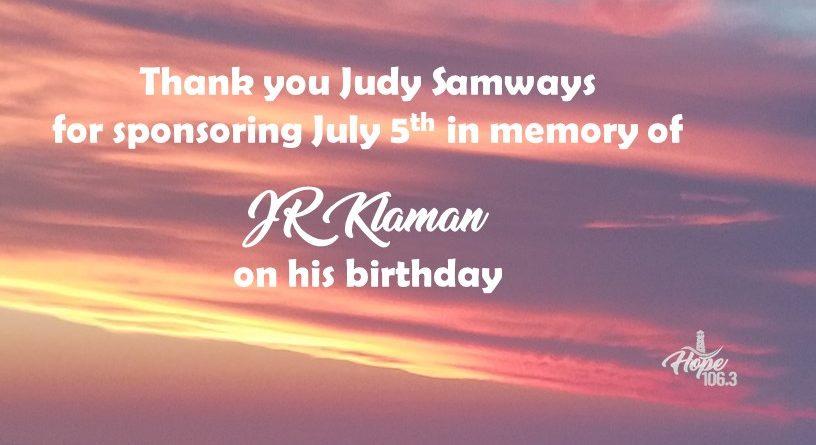 Remembering JR Klaman!